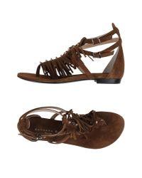 Barbara Bui - Natural Toe Post Sandal - Lyst