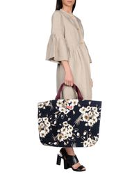 Dolce & Gabbana - Black Floral Print Tote - Lyst
