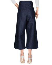 Malloni - Blue Denim Trousers - Lyst