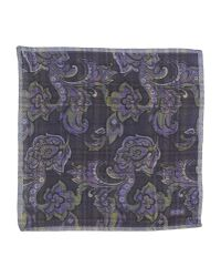 Roda - Blue Square Scarf for Men - Lyst
