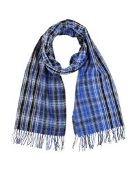 Dondup - Blue Oblong Scarf for Men - Lyst