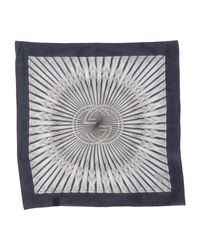 Gucci - Blue Square Scarf for Men - Lyst