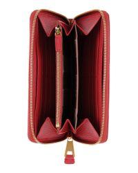 Emporio Armani - Red Wallet - Lyst