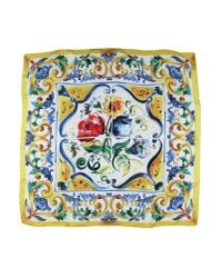 Dolce & Gabbana - Yellow Square Scarf - Lyst