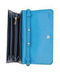 Furla - Blue Wallet - Lyst