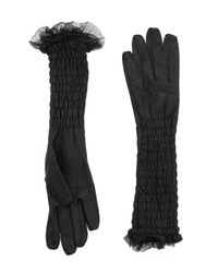 Scee By Twin-set - Black Gloves - Lyst