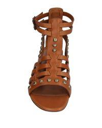 Saint Laurent - Brown Sandals - Lyst