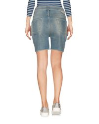 TRUE NYC - Blue Denim Shorts - Lyst