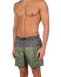 Golden Goose Deluxe Brand - Green Beach Shorts And Pants for Men - Lyst