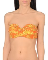 Versace - Orange Bikini Top - Lyst