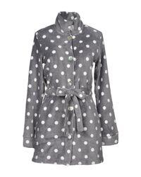 Verdissima - Gray Dressing Gown - Lyst
