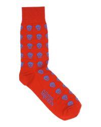 Alexander McQueen - Red Short Socks for Men - Lyst