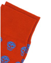 Alexander McQueen - Red Short Socks for Men - Lyst
