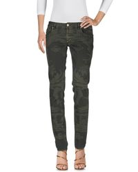 Dondup - Green Denim Trousers - Lyst