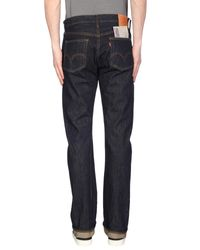 Levi's Blue Denim Pants for men