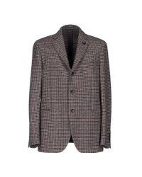 Lardini - Gray Blazer for Men - Lyst