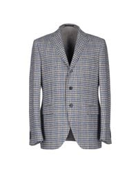 Luigi Bianchi Mantova - Gray Blazer for Men - Lyst