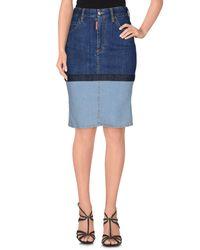 DSquared² - Blue Denim Skirt - Lyst