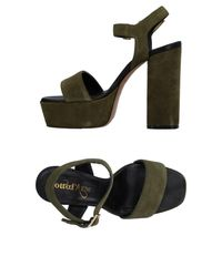 Ottod'Ame - Green Sandals - Lyst