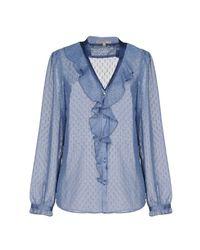 Patrizia Pepe - Blue Shirt - Lyst