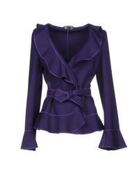 Alberta Ferretti - Purple Blazers - Lyst