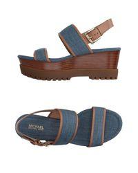MICHAEL Michael Kors - Blue Sandals - Lyst