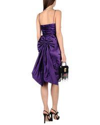 Ralph Lauren Black Label - Purple Knee-length Dress - Lyst
