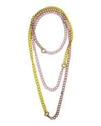 Ki6? Who Are You? - Metallic Necklace - Lyst