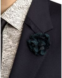 Lanvin | Blue Floral Brooch for Men | Lyst
