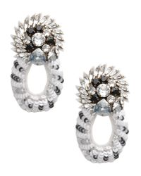 Shourouk | White Earrings | Lyst