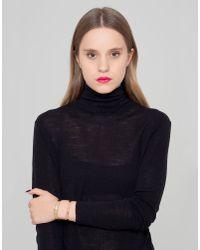 Maria Francesca Pepe - Black Bracelet - Lyst