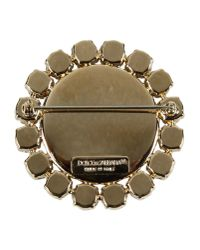Dolce & Gabbana - Metallic Brooch - Lyst