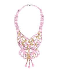 Tom Binns | Pink Gilded Pleasure Rhodium-Plated Crystal Necklace | Lyst