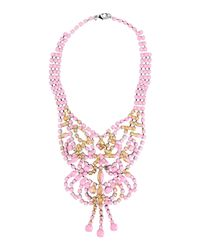Tom Binns | Metallic Gilded Pleasure Rhodium-Plated Crystal Necklace | Lyst