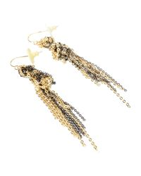Gemma Redux - Metallic Gold and Gunmetalplated Earrings - Lyst