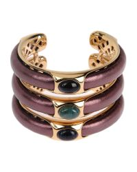 Roberto Cavalli - Metallic Swarovski Crystal Floral Bracelet - Lyst