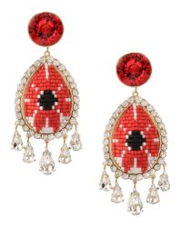 Shourouk | Red Suma Earrings | Lyst