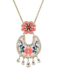 Shourouk - Pink Necklace - Lyst
