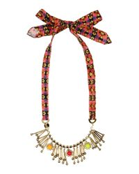Pinko - Brown Necklace - Lyst