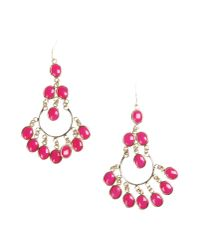 Isharya | Pink Earrings | Lyst