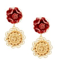 Dolce & Gabbana | Metallic Earrings | Lyst
