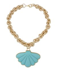 Boutique Moschino | Blue Necklace | Lyst