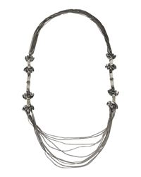 Stefanel - Gray Necklace - Lyst