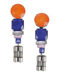 MSGM - Orange Earrings - Lyst