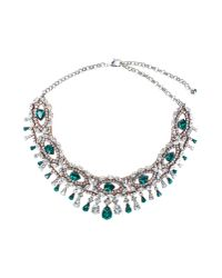 Shourouk | Isis Green Necklace | Lyst