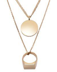 Maison Margiela   Metallic Necklace   Lyst