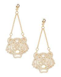 KENZO - Metallic Earrings - Lyst