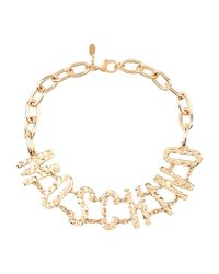 Moschino Couture | Metallic Necklace | Lyst