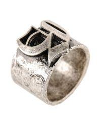 John Galliano   Metallic Ring   Lyst
