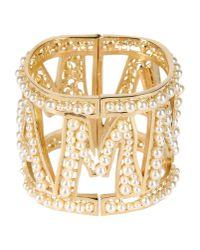 Dolce & Gabbana - Metallic Mamma Pearl Cuff - Lyst